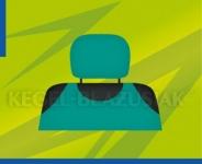 Potahy opěrek hlavy (zelené)